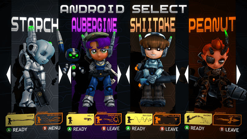 Assault Android Cactus Characters