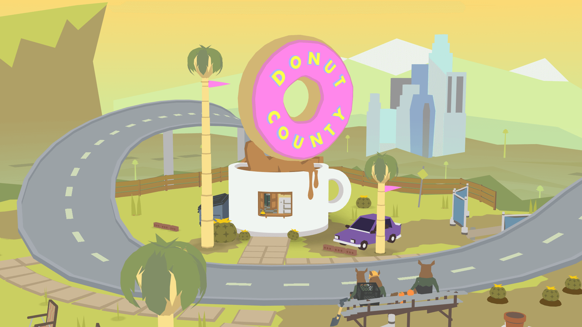 PSX 2017: Donut County - Updog Gameplay