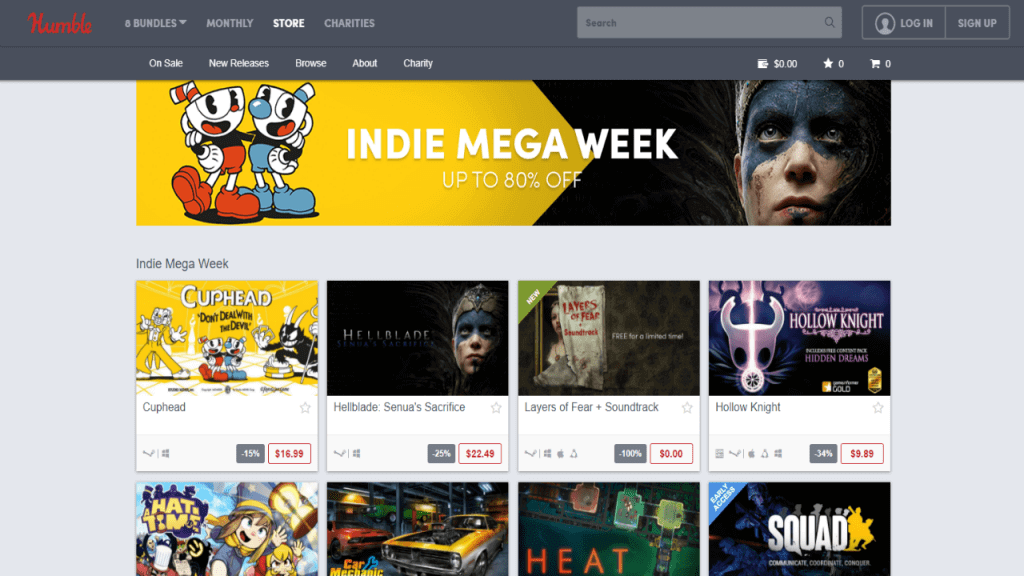 Catch the Humble Bundle Indie Mega Week While it Lasts