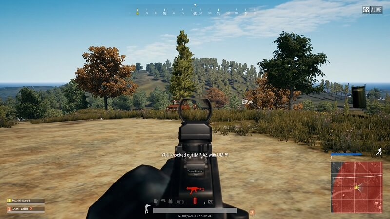 Downing an enemy in Player Unknown's Battlegrounds