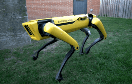 SpotMini From Boston Dynamics Fights Off Hockey Stick