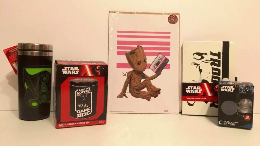 Geek Gear:  Star Wars and Guardians of the Galaxy in a Box - Review