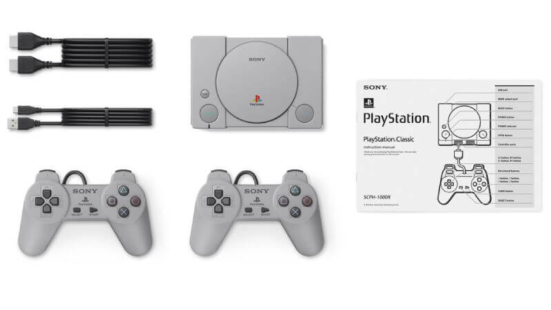 PlayStation Classic image showing contents.