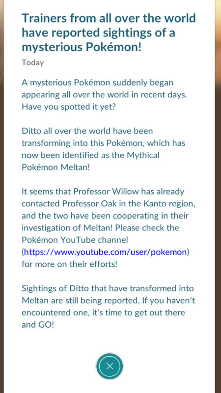 New Pokémon Meltan
