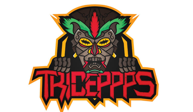 Triceppps - Twitch Partner Logo