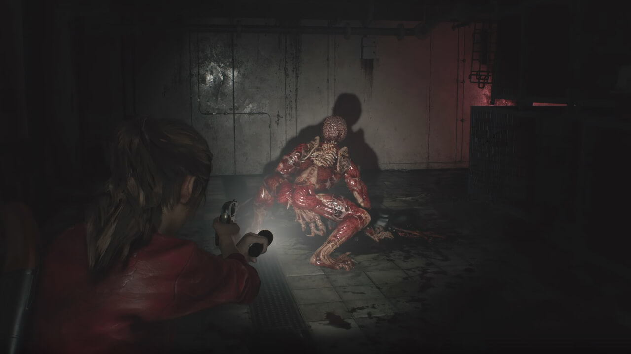 Resident Evil 2 Gameplay Shows Off Lickers, More Claustrophobic Action