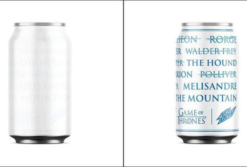 Game of Thrones Limited Edition Mountain Dew Cans Revealed