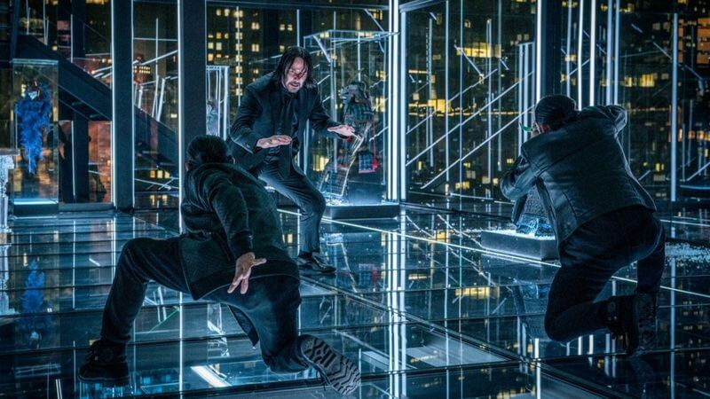 John Wick fighting Zero's team in John Wick 3