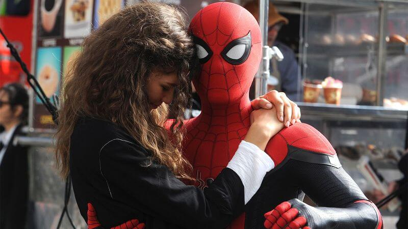MJ and Spidey in Spider-Man: Far From Home