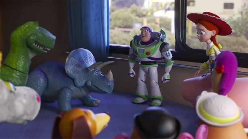 Toy Story 4 buzz, jessie and company talking