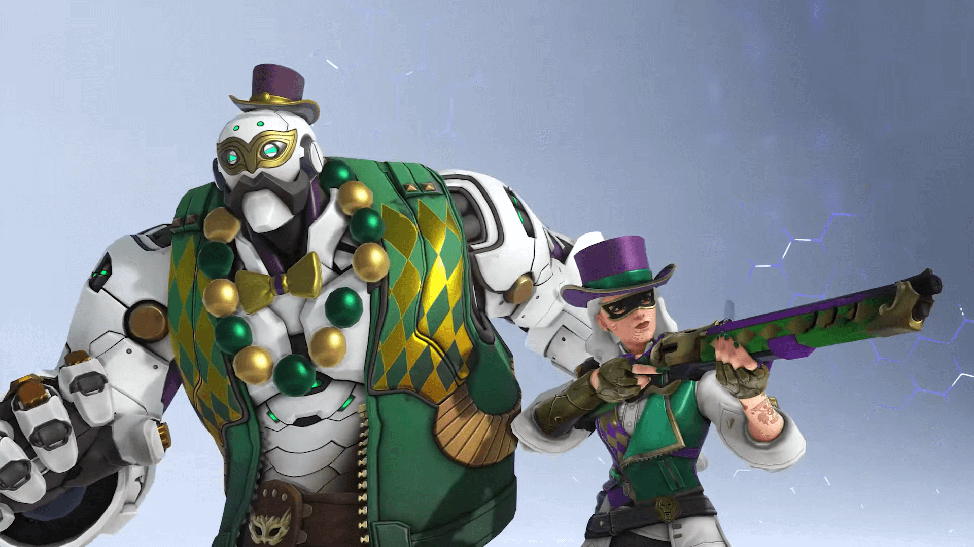 Overwatch Introduces Ashe's Mardi Gras Challenge, New Skin and Sprays