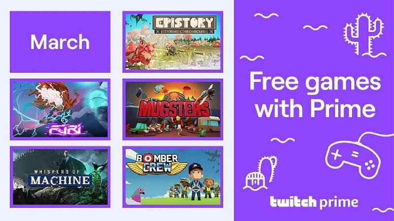 Twitch Prime March Free Games