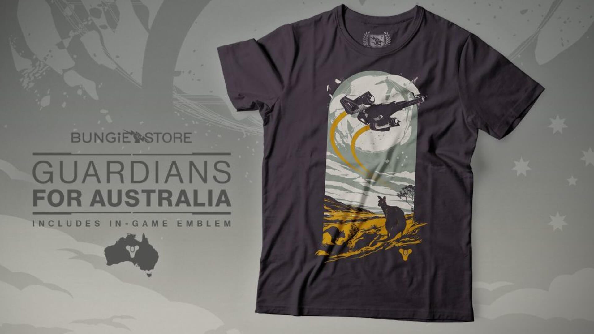 Bungie Steps Up for Australia with T-shirts