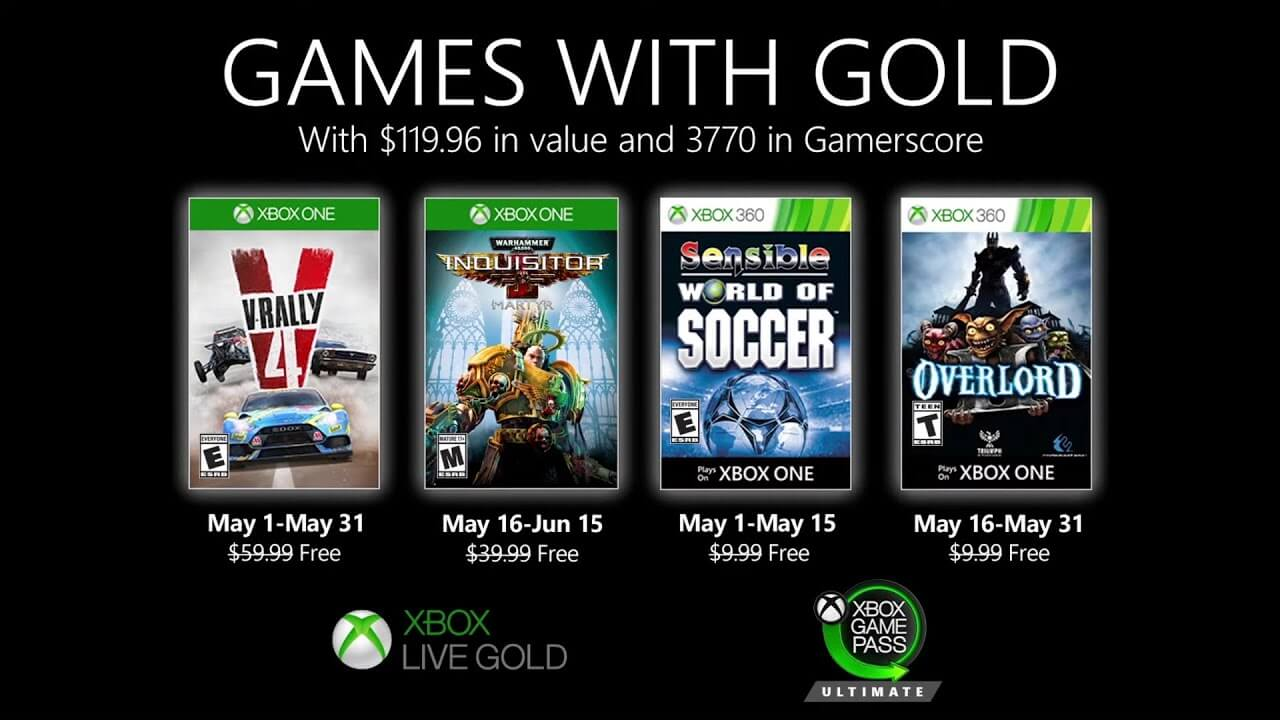 May 2020 Games with Gold Announced