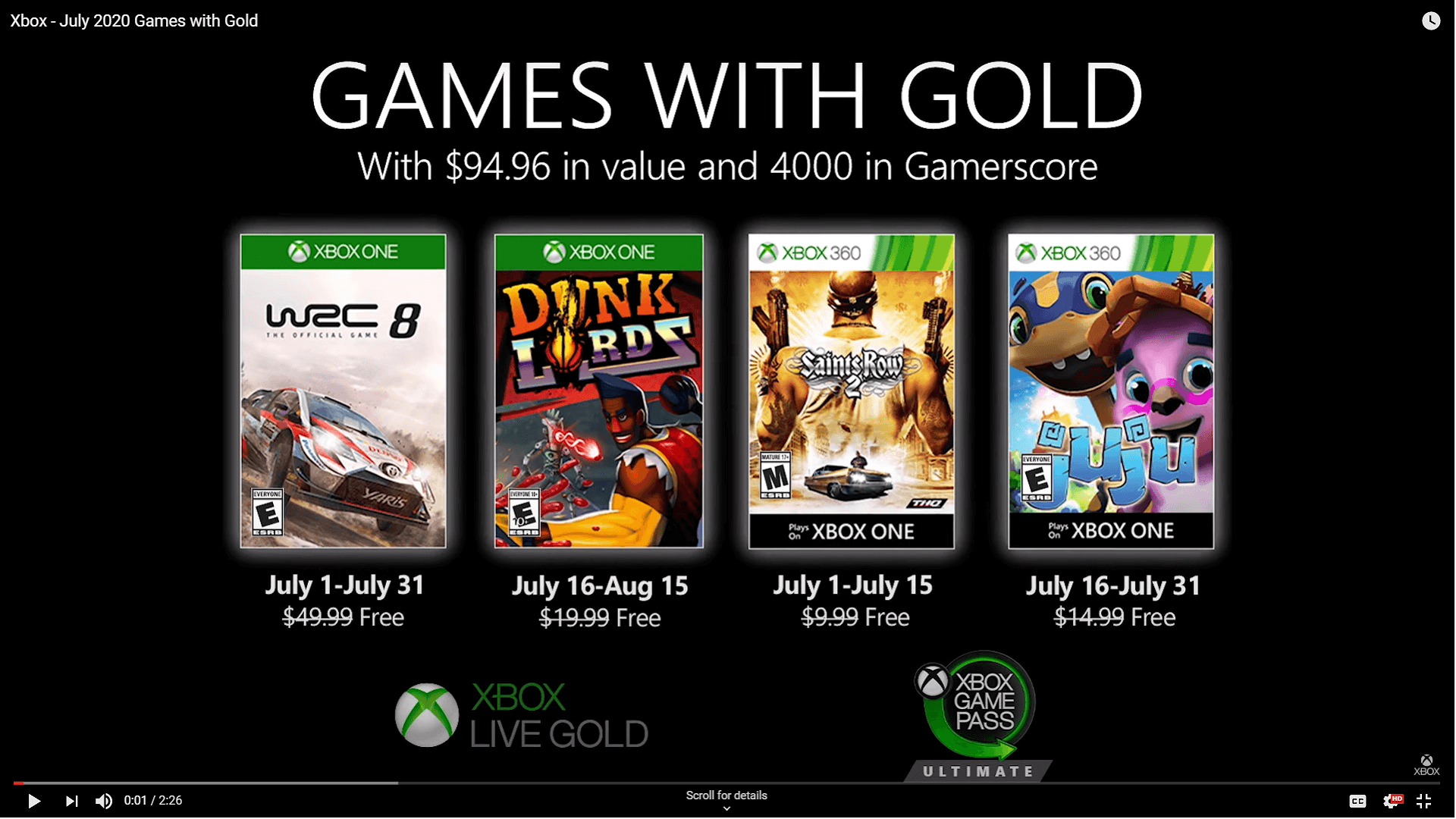 The July 2020 Games with Gold Brings Back Saints Row 2