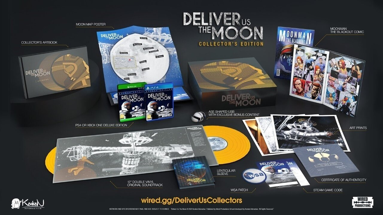 Deliver Us The Moon Collector's Edition And Deluxe Edition Coming Soon