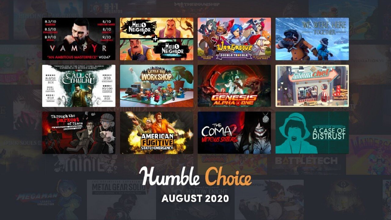 Humble Choice August 2020 Games Revealed