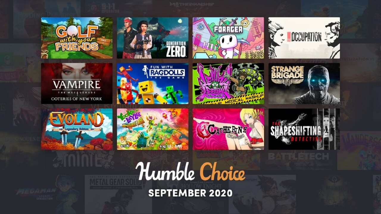 Humble Choice September 2020 Games Revealed