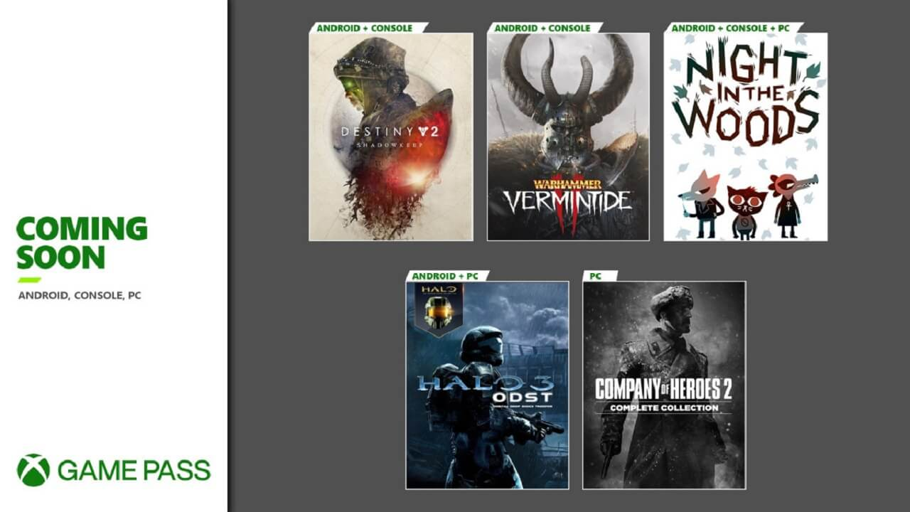 Game Pass Gets Halo 3: ODST, Vermintide 2, And More
