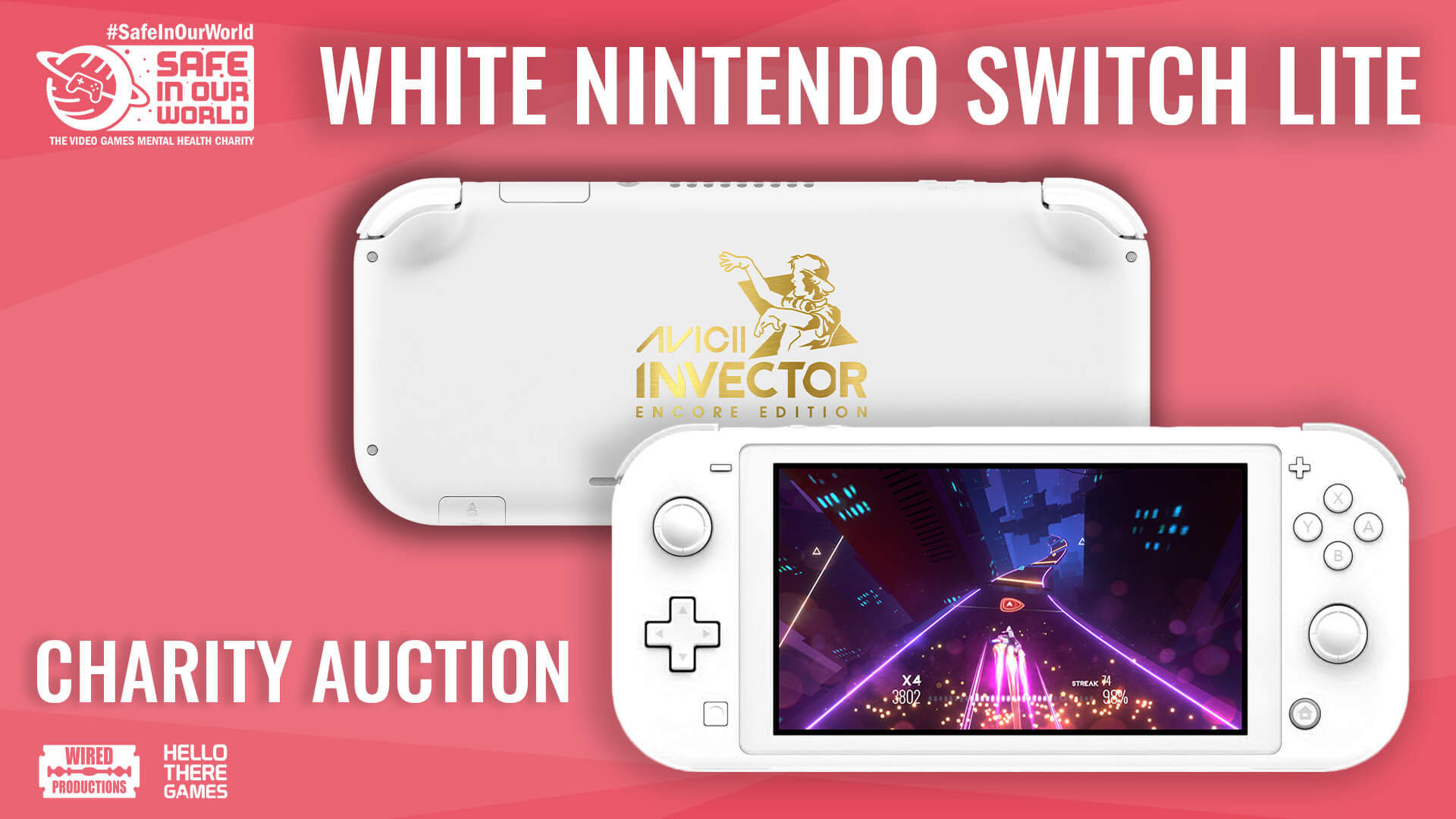 Win A Rare Custom White Switch Lite By Donating To Charity
