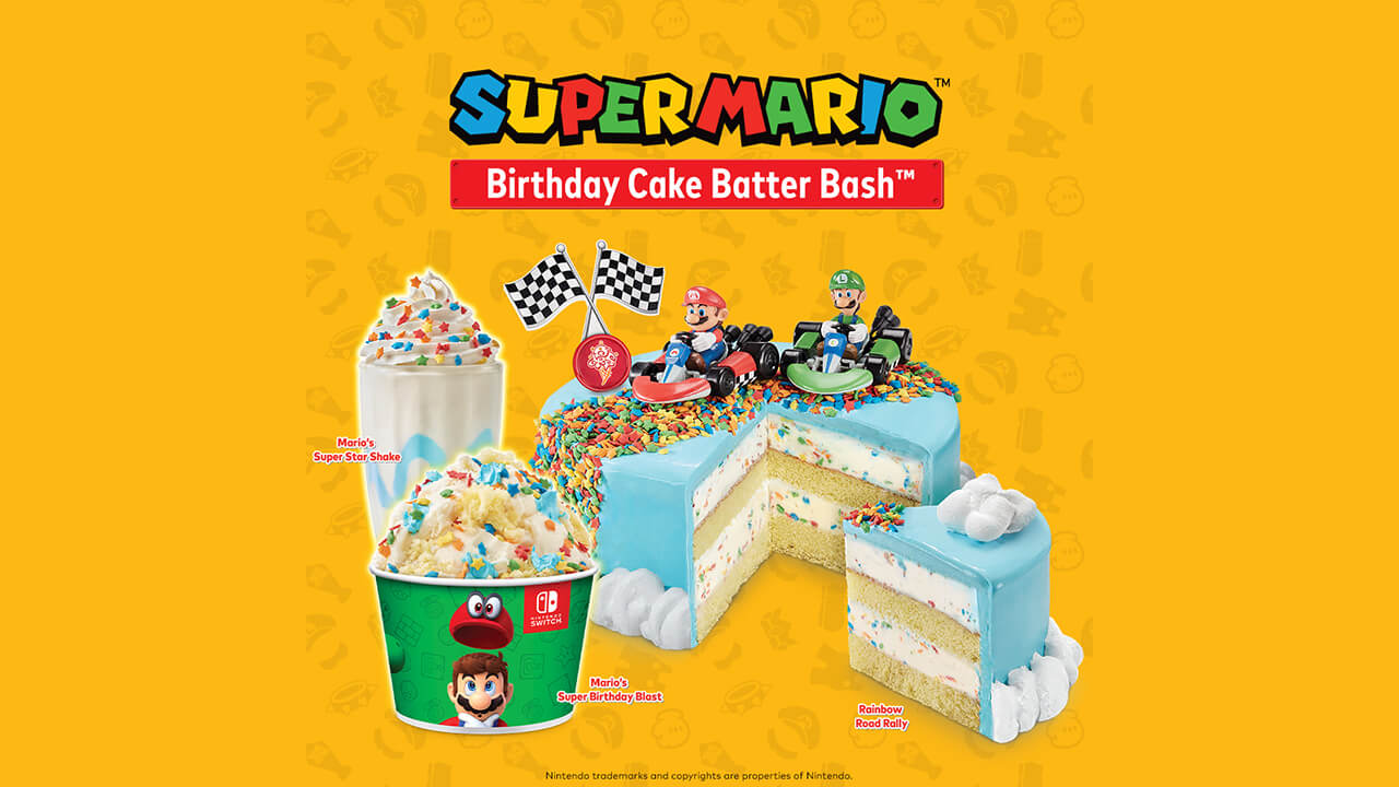 Nintendo and Cold Stone Team Up for Mario Desserts