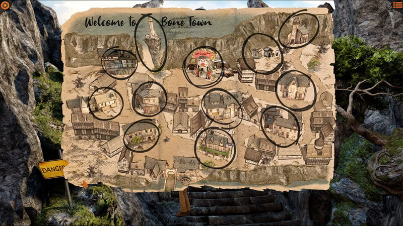 Willy Morgan and the Curse of Bone Town town map