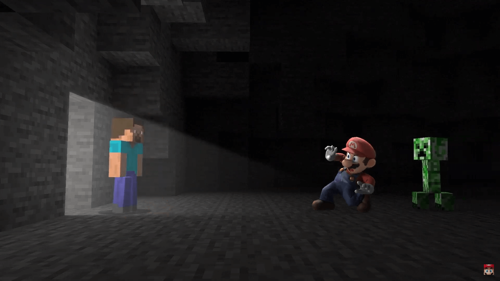 Minecraft Steve Builds and Breaks Into Super Smash Bros Ultimate