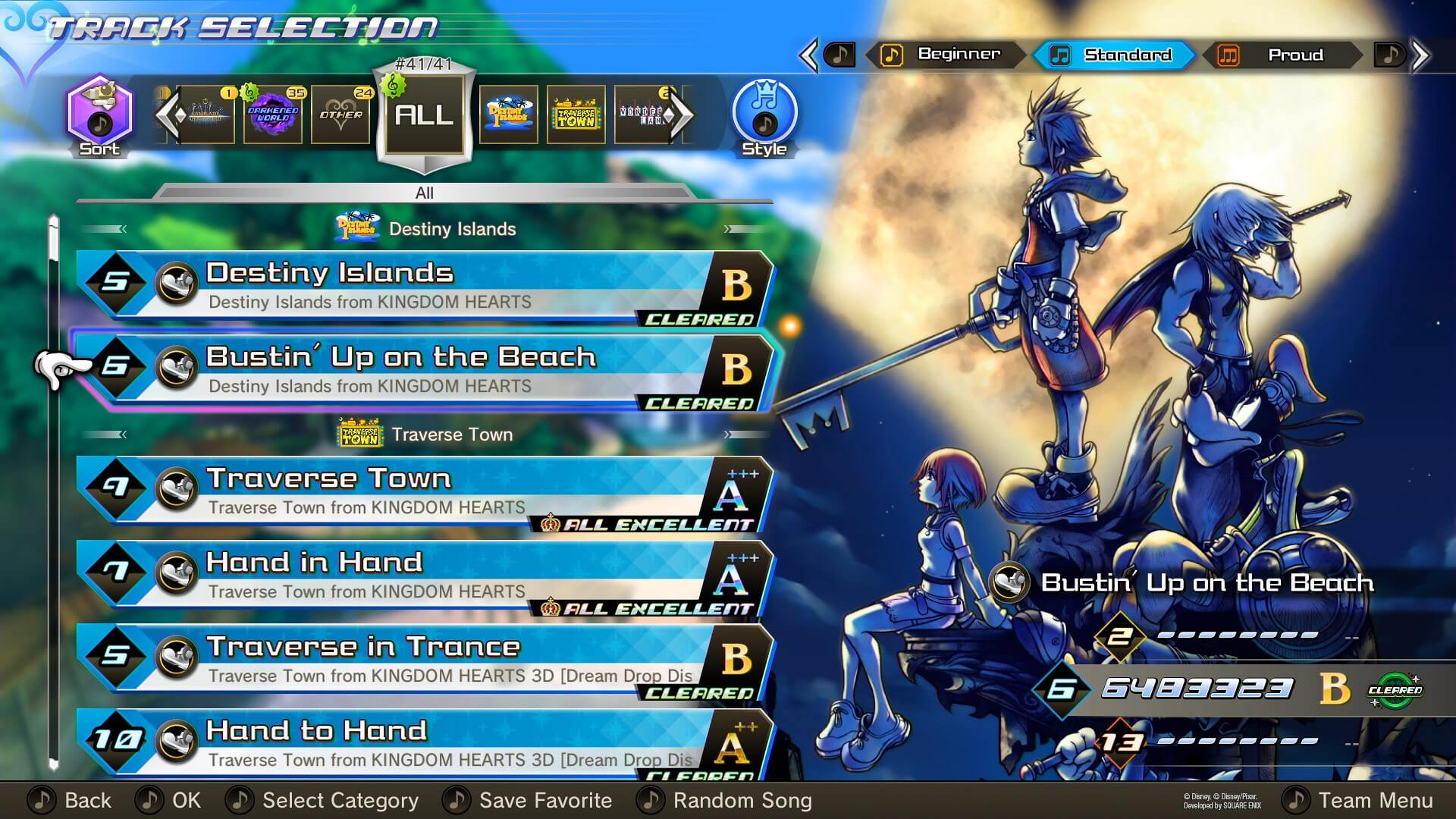 Kingdom Hearts Melody of Memories Track List