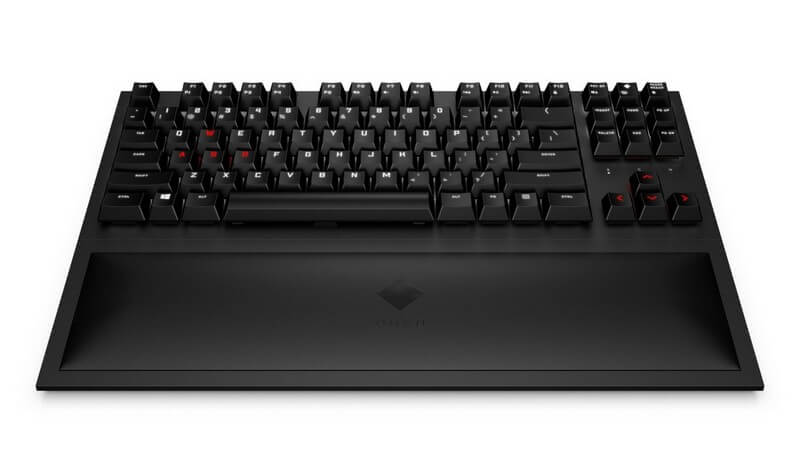 Omen Spacer picture of keyboard with palm rest