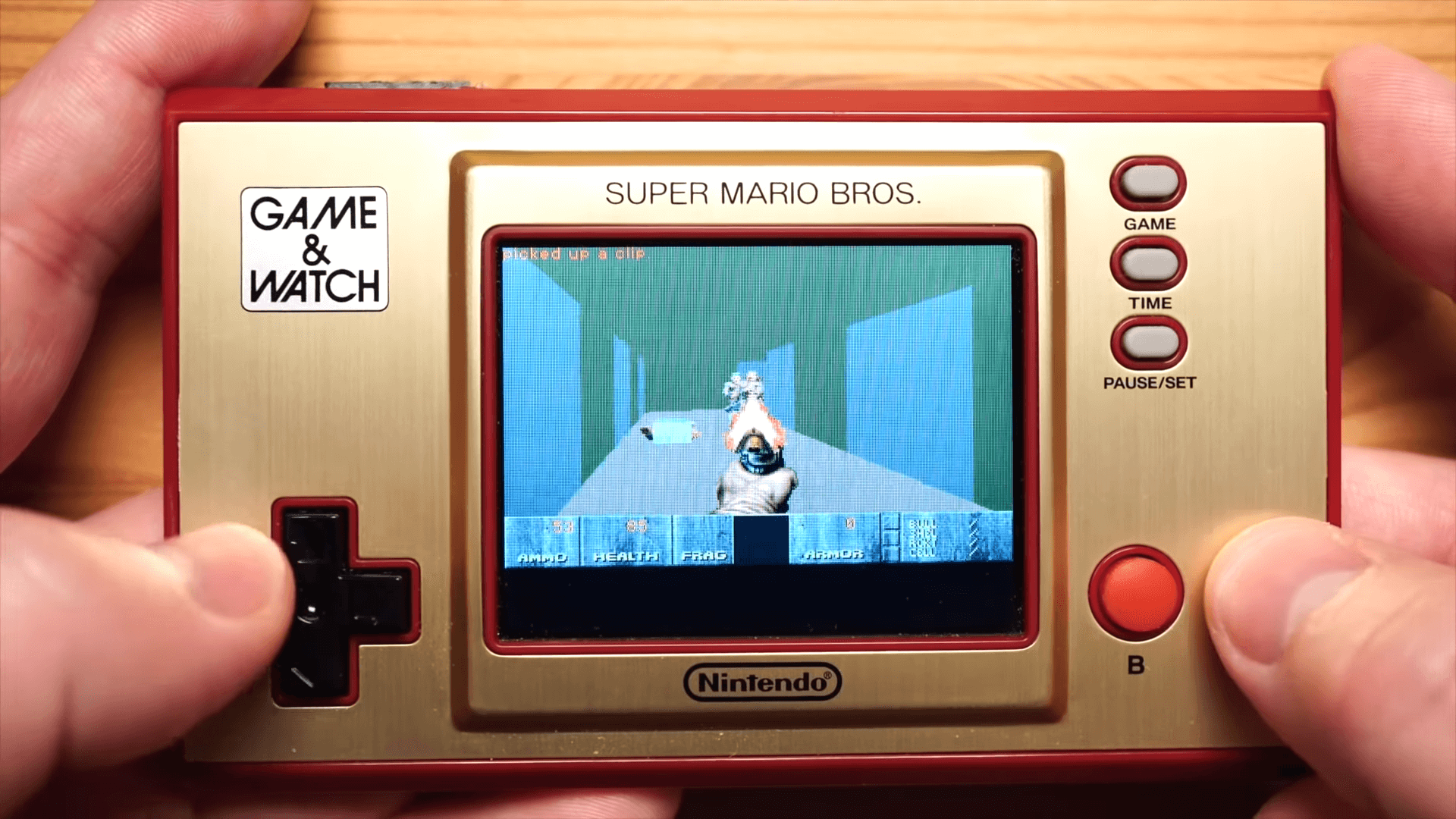 DOOM is Playable on the Super Mario Game & Watch