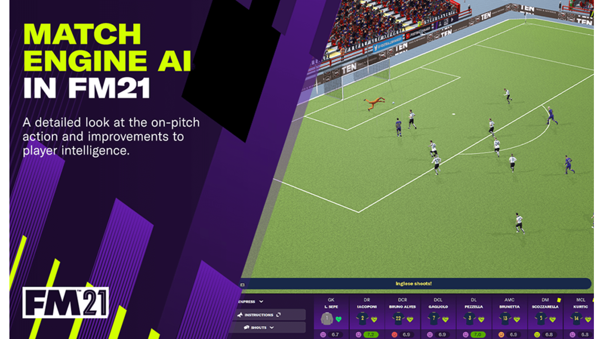 Football Manager 2021's Match Engine Gets Some Big Improvements