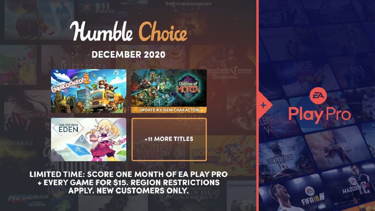Humble Choice December 2020 Games Revealed