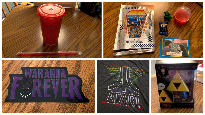 Geek Fuel Box Review Collage of September box