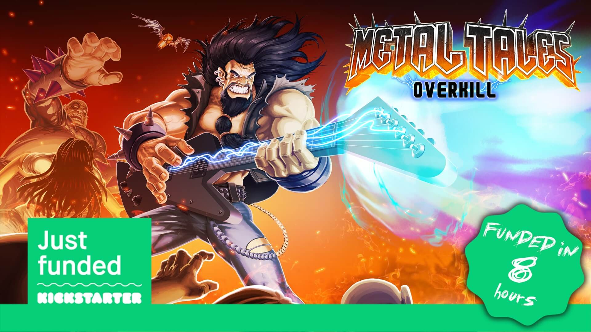 Metal Tales Overkill Funded in Under 8 Hours