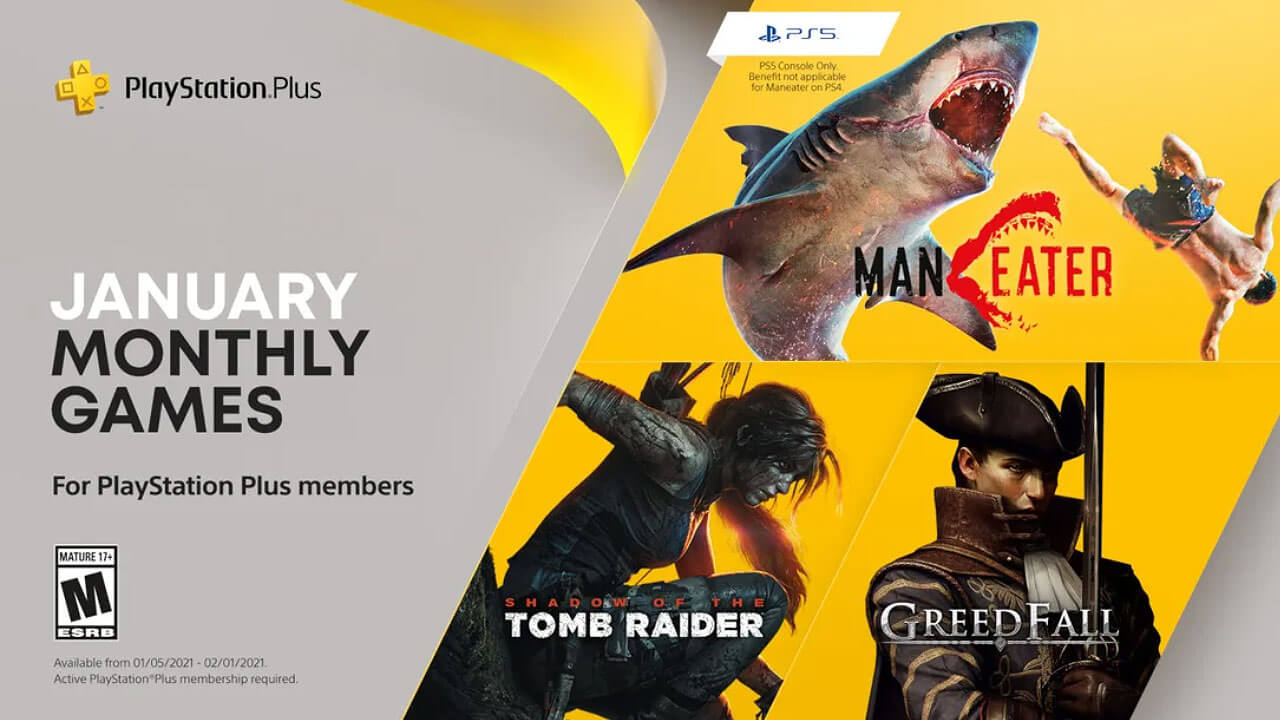 January 2021 PS Plus Games Line-Up Announced