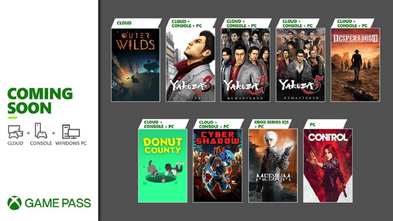 Game Pass Gets Control, The Medium, and Much More