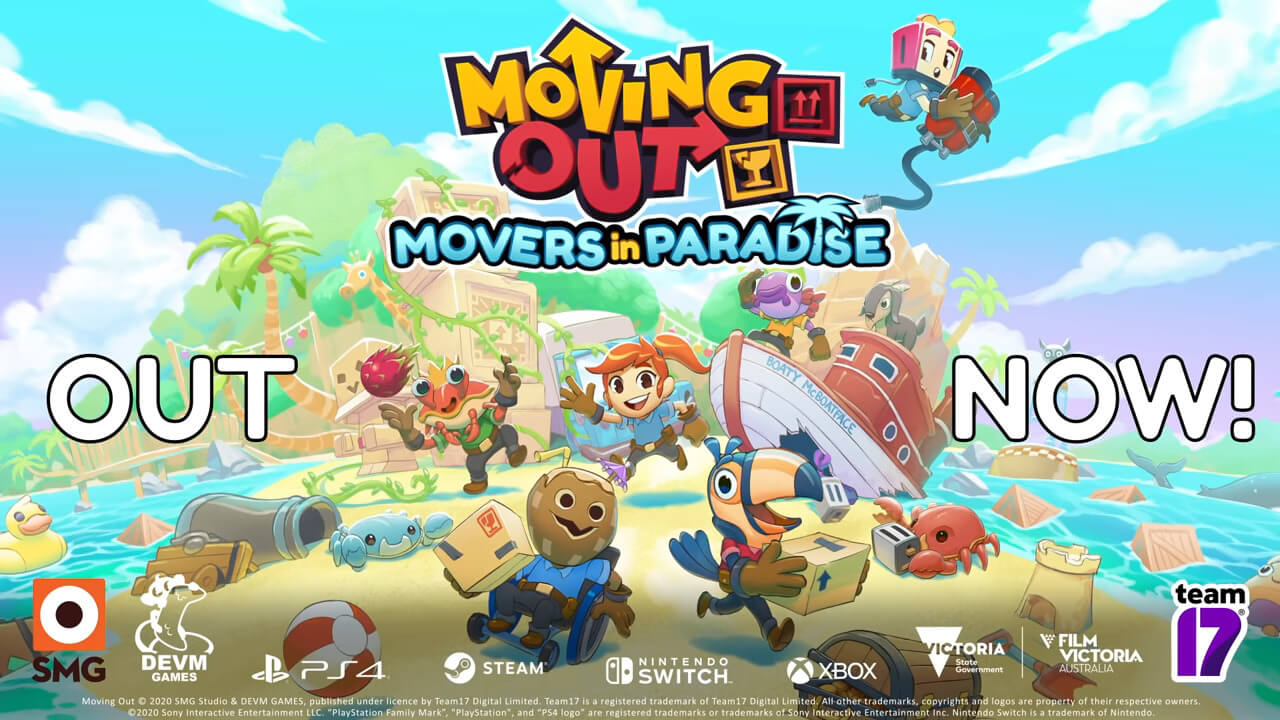 Moving Out 'Movers In Paradise' DLC Releases Today