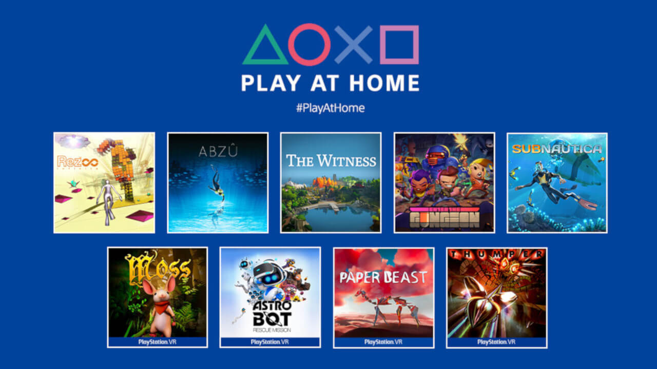 Sony Play At Home Returns With Free Titles For 4 Months