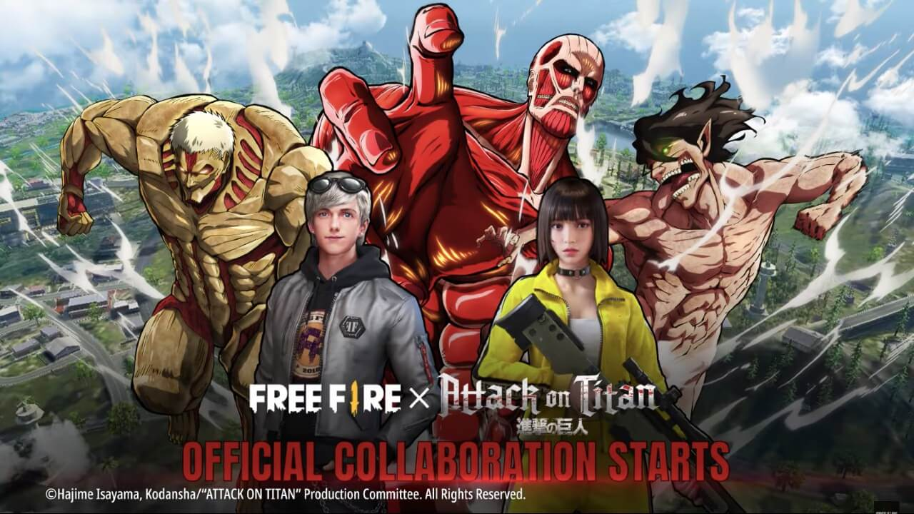 Free Fire Attack On Titan Collaboration is Now Live