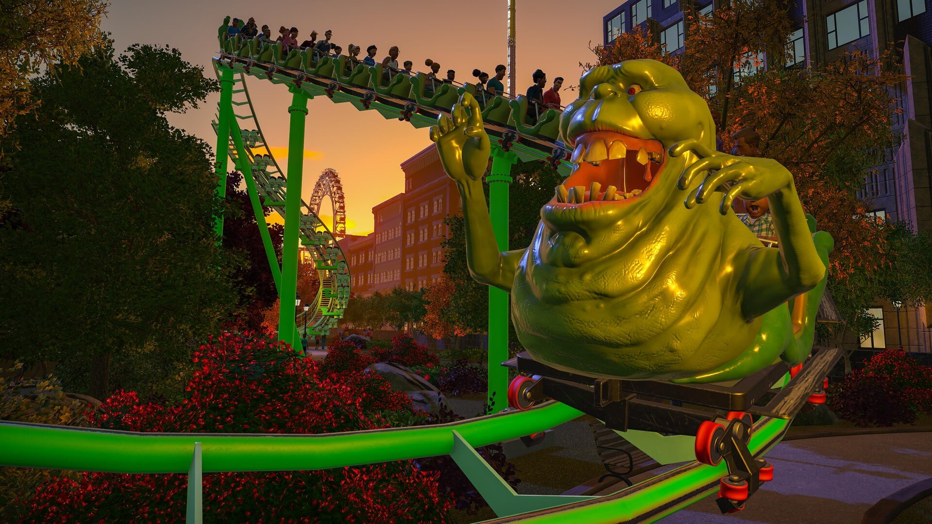 Planet Coaster: Ghostbusters Brings Slimer To Consoles Near You
