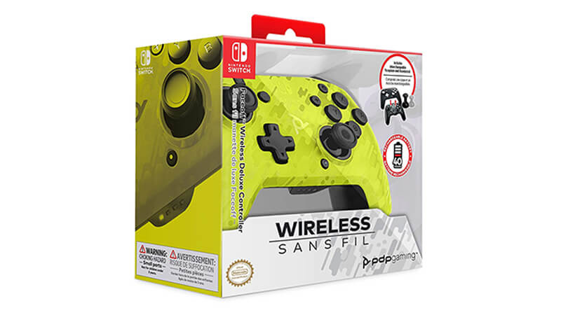 PDP Gaming - Faceoff Wireless Deluxe Controller in the Box