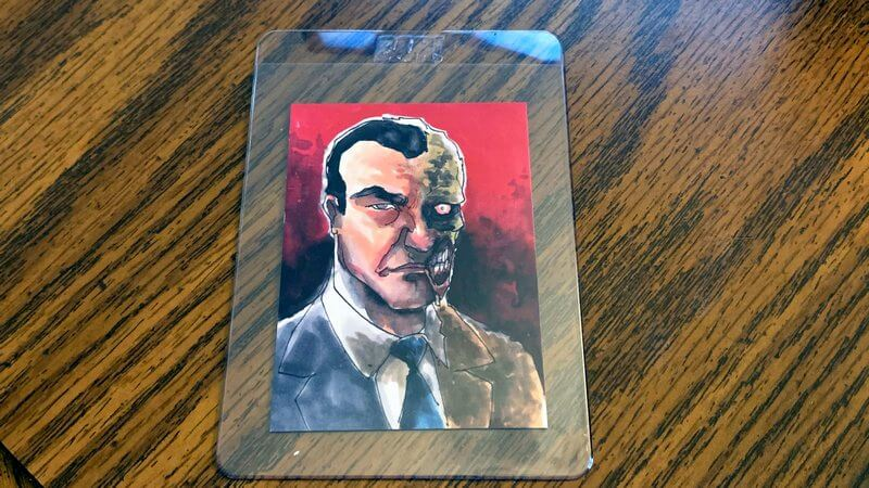 Photo of Artist Select Card of Two Face from Batman