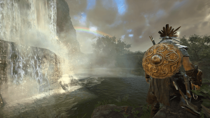 Wrath of the Druids rainbow shot with waterfall