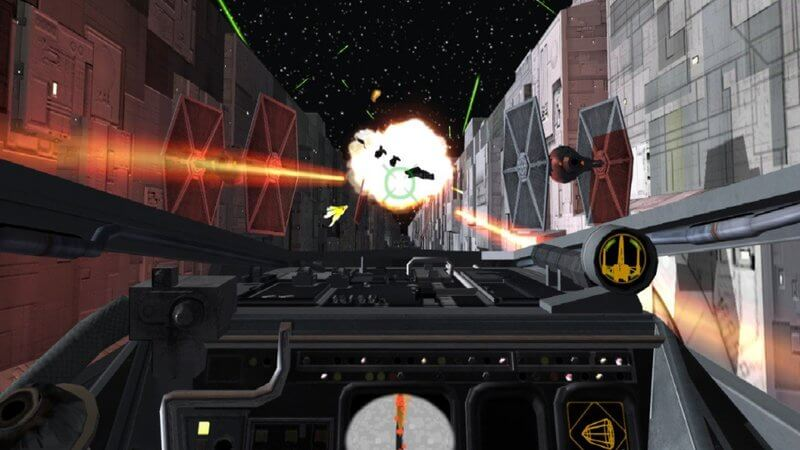 X Wing fighting in death star
