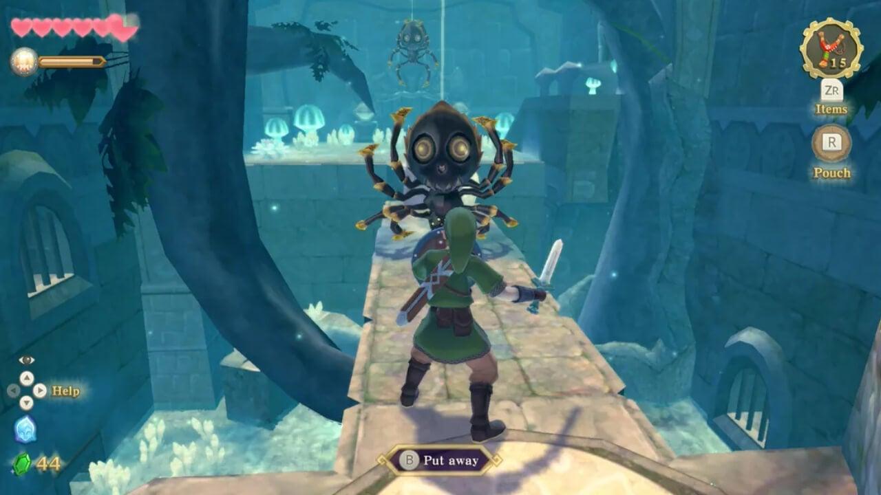 The Legend of Zelda Skyward Sword HD: How to Fight Skulltula Spiders