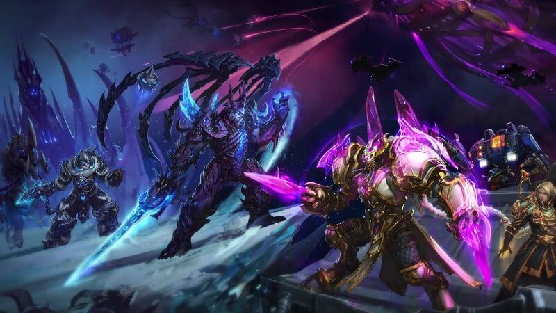 Heroes of the Storm Blizzard Artanis and Arthas