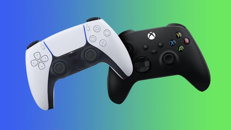Xbox Controller and PS5