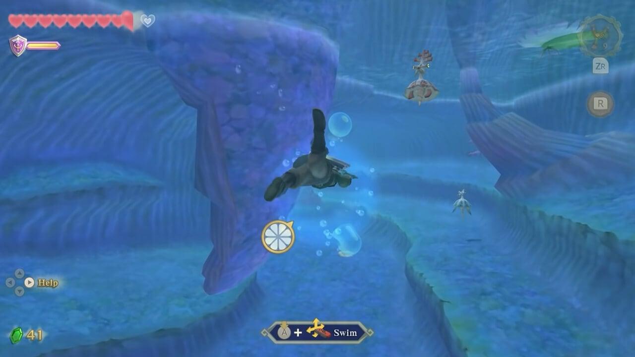 The Legend of Zelda Skyward Sword HD: How to Dive Underwater
