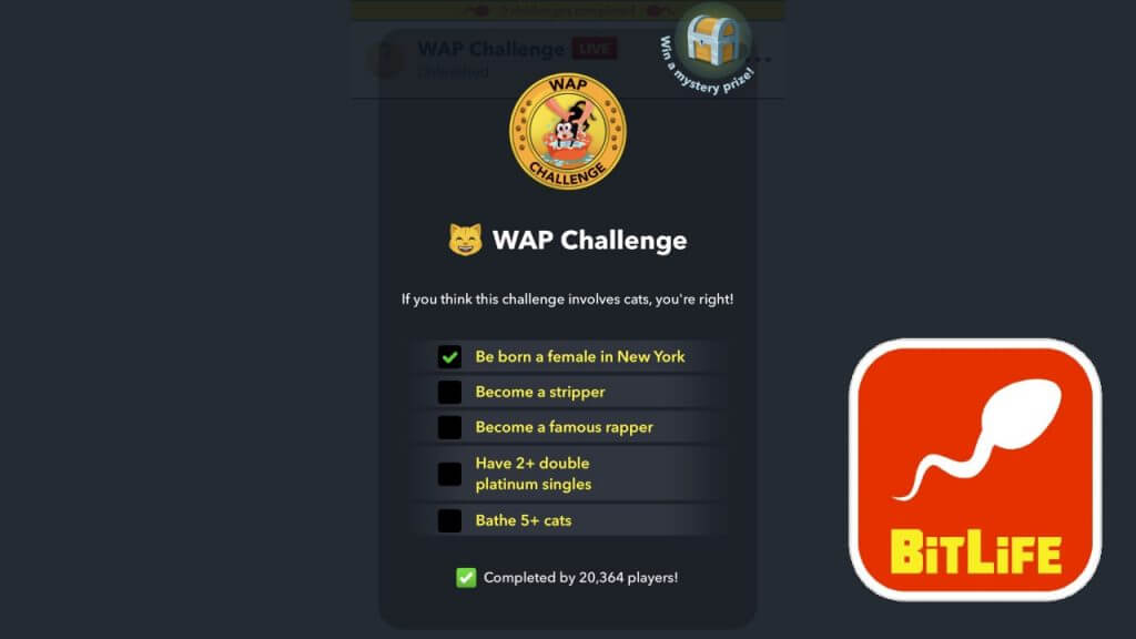 BitLife: How to Complete the WAP Challenge