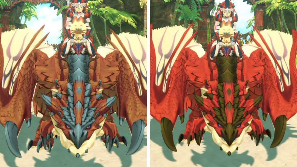 Monster-Coloring Feature Removed from Monster Hunter Stories 2